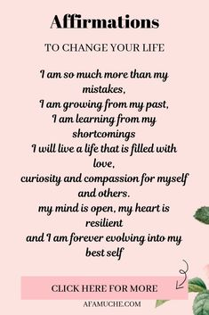 Positive Affirmations For Anxiety, Positive Affirmations Quotes, Self Love Affirmations, Morning Affirmations, Words Of Affirmation, Law Of Attraction Affirmations, Positive Quotes, Affirmations For Success, Wealth Affirmations