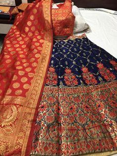 Padmavat Banarasi Brocade Lehnga With Full Fair And Ready Made Paded Blouse With Banarasi Duppta Brocade Lehnga, Banarasi Lehenga, Silk Dupatta, Sabyasachi, Gagra Choli, Cotton Lehenga, Under Dress, Silk Skirt, Clothes For Women