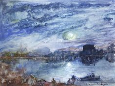 The Art of Valerie Biebuyck: Paint Like TurnerSt Denis on the Seine after JMW Turner  watercolour on semigloss art paper