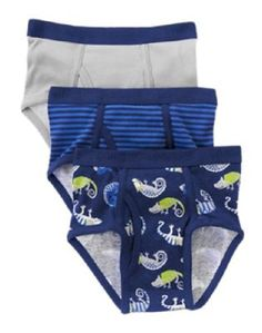 Gymboree Boys S5/6 Gym Navy Gecko Fish Briefs Underwear 3-Pack NWT  #Gymboree #Briefs
