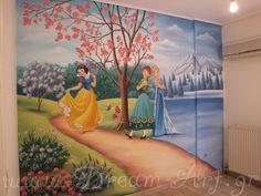 Ζωγραφική στον τοίχο παιδικού δωματίου Elsa Frozen