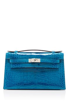 e1eb4a883fb Hermes Blue Izmir Kelly Pochette by HERITAGE AUCTIONS SPECIAL COLLECTION  for Preorder on Moda Operandi Design