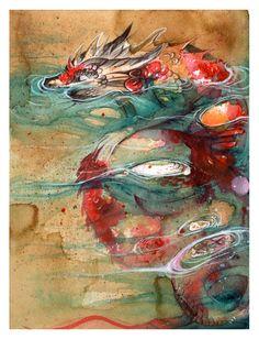Nap Dragon Koi O Ka Fee by RubisFirenos on DeviantArt