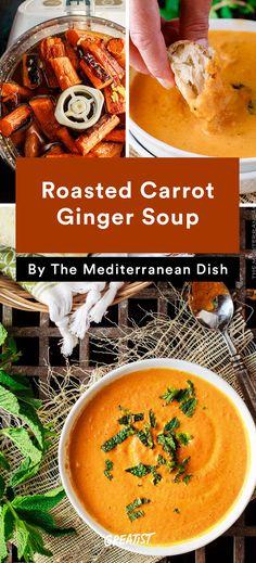Roasted Carrot Ginger Soup