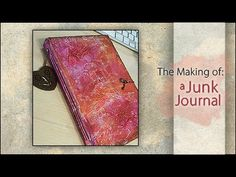 KissMyCreative - How to make a junk journal out of an old book cover & misc papers