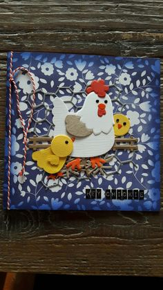 Die Cut Cards, Pop Up Cards, Cute Cards, Arts And Crafts Projects, Projects To Try, Marianne Design Cards, Hen Chicken, Spellbinders Cards, Craft Punches
