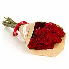 24 Long Stem Red Roses Hand-tied Bouquet -No Vase #affiliate