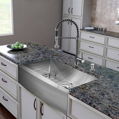Vigo All in One 36-inch Farmhouse Stainless Steel Kitchen Sink and Faucet Set - 15623316 - Overstock.com Shopping - Big Discounts on Vigo Sink & Faucet Sets