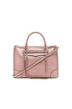 REBECCA MINKOFF REGAN SATCHEL. #rebeccaminkoff #bags #shoulder bags #hand bags #leather #satchel #lining #