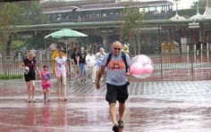 When it rains it pours in Orlando, especially during the summer months, but the daily downpours should not deter you. Many people will exit the parks, leaving them a lot emptier for you to enjoy.Besides, leaving the parks is no fun during such mass exodus as it will be hard to get on the busses or the tram to the parking lot.  Also keep in mind that boats will not run as long as there is lightning. Read our tips for Rainy Days at Walt Disney World.