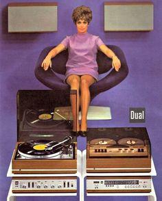 hi fi audio room Vinyl for everybody. Retro Advertising, Retro Ads, Vintage Music, Vintage Ads, Gi Joe, Radios, Home Music, Vinyl Junkies, Audio Room