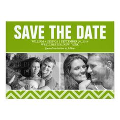 Green Wedding Save the Date Personalized Announcements