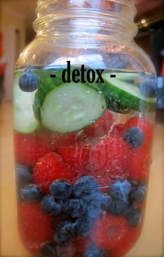 Detox  Purify your blood and body with this awesome vitamin water!  Detox is ideal for the morning after a night out or when you are cleansing.  Created with hydrating coconut water, and fresh cucumber, nutrient rich coconut meat, detoxifying milk thistle and anti-oxidant loaded raspberries and blueberries, this combination will cleanse your body from the inside out.