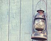 Vintage Lantern - Rustic Cottage - Shabby Chic - Home Decor - Baby Nursery - Nautical Decor - Fine Art Photograph