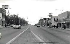 Logan, Utah Main Street in 1978. At the corner of 100 North looking South.