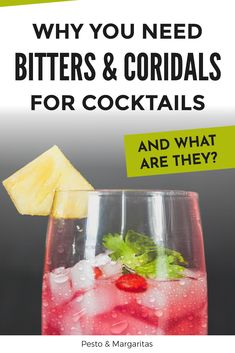 Bitters and cordials are some of the parts of a cocktail recipe that seem a little odd – do you really need them? The answer is definitely yes and here's a little more about what they are and what they do to understand why you need them in your home bar! Cocktail Maker, Gin Cocktail Recipes, Margarita Cocktail, Bourbon Cocktails, Sangria Recipes, Easy Cocktails, Classic Gin Drinks, Easy Drink Recipes, Schnapps
