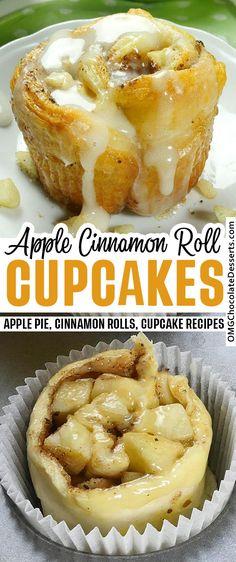 Fall Dessert Recipes, Köstliche Desserts, Cupcake Recipes, Cookie Recipes, Delicious Desserts, Yummy Food, Easy Chocolate Desserts, Desserts To Make, Apple Deserts Easy