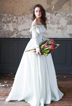 Adelphi / Quinceanera mint wedding dress open shoulders winter with long sleeves taffeta bridal gown Romantic long wedding dress plus size