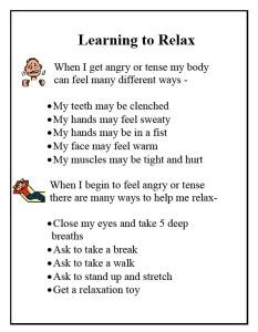 Free Printable Social Stories | Learning to Relax