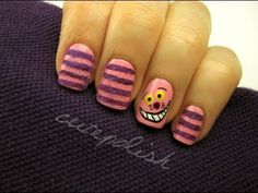facebook.com/cutepolish | twitter: @cutepolish | instagram: cutepolish    Helloooo I had some lovely viewers request for Alice in Wonderland and Cheshire Cat nails on Facebook! I thought it was a fun idea so I ran with it and here is what I came up with! I hope you enjoy :)    PRODUCTS USED:  OPI Pink Friday    Music by: Kevin MacLeod