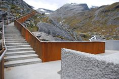 corten steel outdoor stair