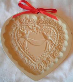 Brown Bag Cookie Mold Candy Paper Mold Victorian Heart 1985 Vintage