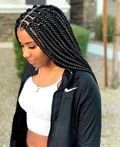 2018 Stunning Box Braid Hairstyles For The Ultimate Protective Style – LushFro. - 2018 Stunning Box Braid Hairstyles For The Ultimate Protective Style – LushFro - Box Braids Hairstyles For Black Women, Braids For Black Women, African Braids Hairstyles, Braids For Black Hair, Girl Hairstyles, Braid Hairstyles, Protective Hairstyles, Black Hairstyle, Elegant Hairstyles