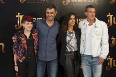 Angy, Manuel Sicilia, Inma Cuesta y Antonio Banderas en la presentación de Justin Y La Espada Del Valor en Madrid