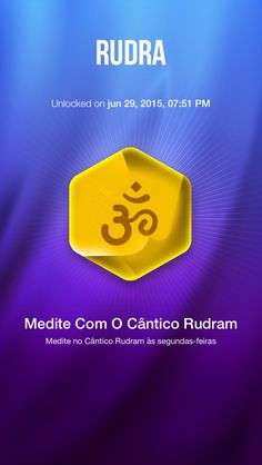 I've unlocked Rudra - Medite no Cântico Rudram às segundas-feiras  on the sattva app!.   Sattva is the world's first advanced meditation timer and tracker. Challenge yourself! Unlock trophies and dive deeper with each meditation!   http://www.sattva.life/app-download