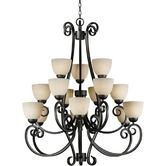 Found it at Wayfair - 15 Light Chandelier with Tapioca Shades