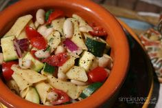 Italian Pasta Salad:Simple Living and Eating
