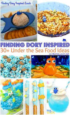 - What's for lunch at our house: Finding Dory-Inspired Under the Sea Food Ideas for Kids Nemo Party Food, Turtle Birthday, 2nd Birthday, Birthday Ideas, Fete Emma, Shower Bebe, Baby Shower, Menu, Sea Food