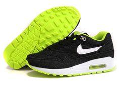 sports shoes 82491 e943a Nike Air Max 1 89 Femmes Running Chaussures Jean Noir Pas cher Nike Air Max  For