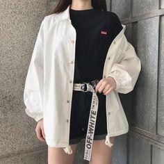 summer outfits ulzzang girl korean kfashion 얼짱 casual clothes street everyday comfy aesthetic soft minimalistic kawaii cute g e o r g i a n a : c l o t h e s Kpop Outfits, Edgy Outfits, Mode Outfits, Grunge Outfits, Fashion Outfits, Fashion Belts, Fashion Ideas, Womens Fashion, Korean Outfits Kpop