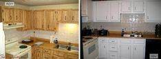 39 Perfect Painted Kitchen Cabinets Before And After #BeforeAfter