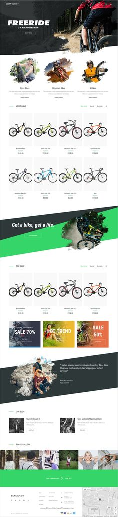 Cosy is clean and modern design responsive #Shopify theme for stunning #cycle shop #eCommerce website with 9 niche homepage layouts download now..