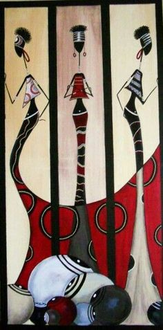 Cuadros negras Worli Painting, Tableaux Vivants, Afrique Art, African Art Paintings, African Theme, Art Africain, Afro Art, Silhouette Art, African American Art