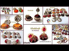 YouTube Silk Thread Jhumkas, Silk Thread Earrings, Earrings Handmade, Handmade Jewelry, Diy Jewellery, Youtube, Design, Handmade Jewellery