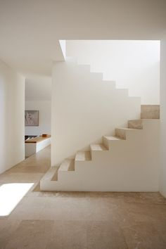 these stairs create a soft geometric design.