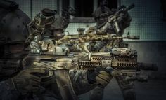 Russian Spetsnaz Alpha Group operators with AK all MODed out