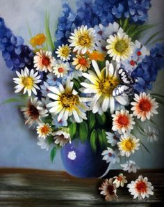 Real flowers bloom from the oil painting. It even attracts the butterfly. A unique 3D oil painting from Exotix Arts.: