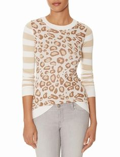 Leopard & Stripes Sweater