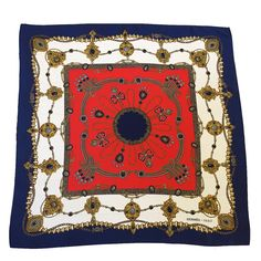 """Hermes """"Bijoux"""" Silk Scarf   From a collection of rare vintage scarves at https://www.1stdibs.com/fashion/accessories/scarves/"""