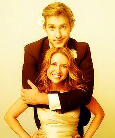Double merp! Jim & Pam (John Krasinski & Jenna Fischer).