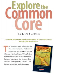 Explore the Common Core by Lucy Calkins