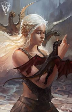 Daenerys Targaryen - Game of Thrones - 11 x 17 Digital Print