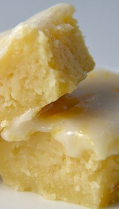 'Lemonies', not quite a lemon bar, not quite a brownie.....Packed with lemon flavor and topped with a tangy glaze!!