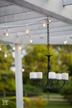 Outdoor candle chandelier | In My Own Style