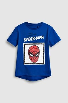 Boys Cobalt Spider-Man Sequin T-Shirt - Blue Latest Fashion For Women, Mens Fashion, Next Uk, Uk Online, Spiderman, Cobalt, Sequins, Boys, Moda Masculina
