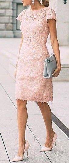 #summer #fashion / pink crochet dress
